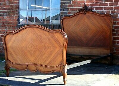 Quality rosewood nineteenth century French standard double bed. Seventh Heaven