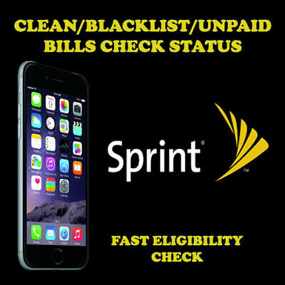 Sprint USA Unlock Eligibility Check Service (Clean/Blacklist/Unpaid Bills+SPCS)