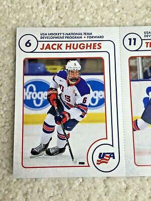 JACK HUGHES 2019 USA Hockey SGA First Rookie Card Set Strip Auston Matthews 2018