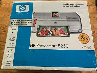 HP PHOTOSMART 8250 Digital Photo Inkjet Printer NEW With