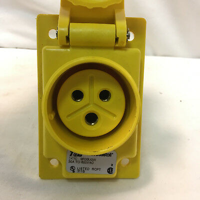 T&B Russellstoll 9R33U0W 30A 600V 3 Wire Pin & Sleeve Female Receptacle