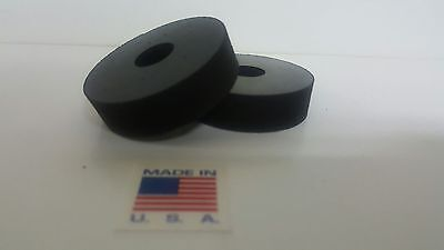 Rubber Spacer Anti-vibration  1/2 THK X 1-1/2 OD X1/4 ID MADE IN THE USA 4 pack