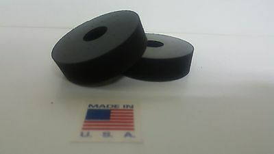 """Rubber Spacer Anti-vibration  1/2 THK X 2"""" OD X1/2 ID MADE IN THE USA 4 pack"""