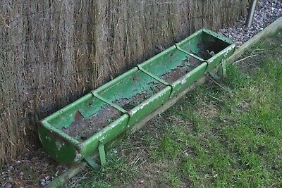 Vintage metal feeding trough - garden planter