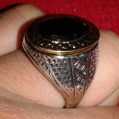 Ancient Viking silver bronze Ring Museum Quality Artifact Very Stunning W/STONE