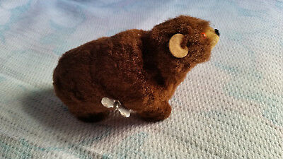 Antique Wind Up Bear Toy West Germany Working !!!