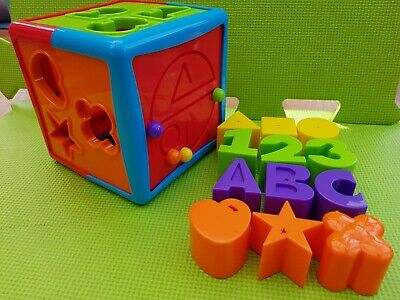 Activity Sensory Learning Shape Sorter Numbers Colours Cube Baby Toddler Toy
