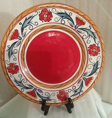 Tabletops Gallery Italiano Hand Painted Dish Dinner Plate Serving Platter 11.5""