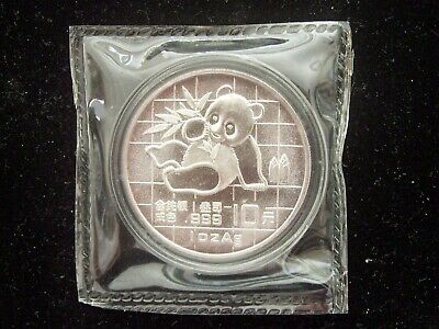 1989 China Panda 1 Ounce Silver Coin Sealed In Original Mint Plastic Read Sale!
