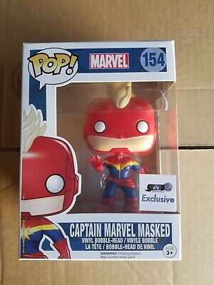 Funko Pop Marvel Captain Marvel Masked #154 Carol Danvers GTS Exclusive MOVIE