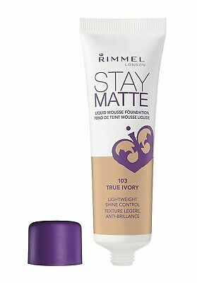 Rimmel London Stay Matte Liquid Mousse Foundation 30Ml **103 Ivory**
