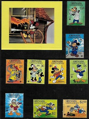 Grenada Grenadines 1979 Intl Year of the Child - Disney Characters - MS & Stamps