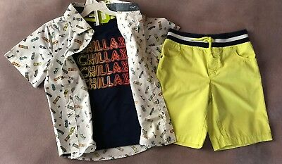 Crazy 8 a Gymboree co Tee shorts top (3pc) 5T skateboard