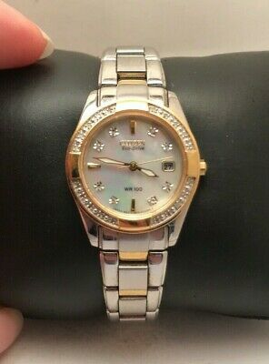 Citizen Eco-Drive Women's EW1824-57D Diamond Mother of Pearl Dial 26mm Watch-H46