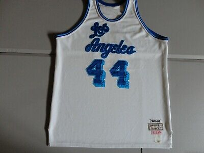 d382c8edc84 Los Angeles Lakers #44 Jerry West Hardwood Classic THROWBACK Sewn Jersey SZ  52