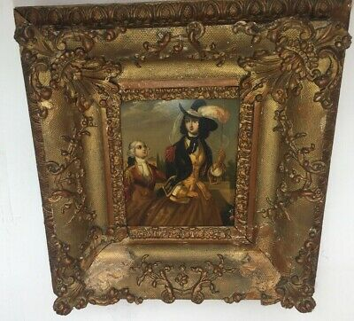 Beautiful 17th Century Oil Painting Katherine The Great 19th Century Gesso Frame