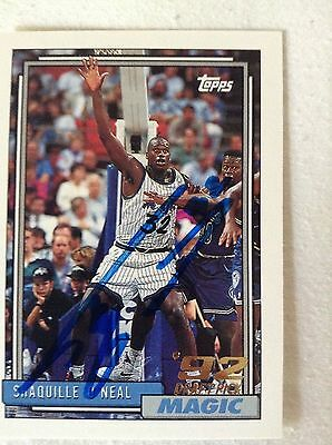 Shaquille O'Neal HOF HAND SIGNED 1992 Topps DRAFT PICK ROOKIE With COA Stock 002