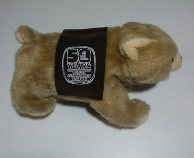 Big Bear Grocery Store Stuffed Animal Quality Supermarkets 50 Years Vtg 1984