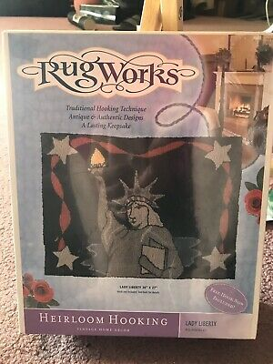 "Rugworks Lady LIBERTY Statue Heirloom Hooking CRAFT 20"" x 27"" New York City"