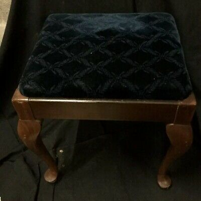 Antique Walnut Stool With Storage, Sewing, vanity , Piano c5