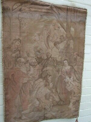 "Antique Peter Paul Rubens FrenchTapestry ""Adoration of the Magi''C.1890 Signed"