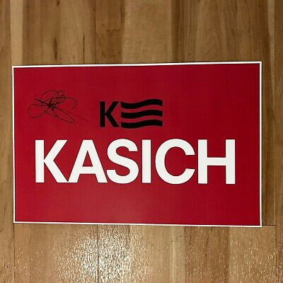 Signed John Kasich 2016 Campaign Poster w/ Proof (President Candidate Autograph)