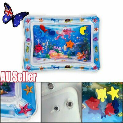 Baby Water Play Mat Inflatable For Infants Toddlers Fun Tummy Time Sea World NEW