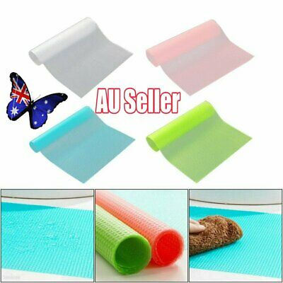 4Pcs Antibacterial Refrigerator Fridge Mat Drawer Liners Washable Kitchen VW