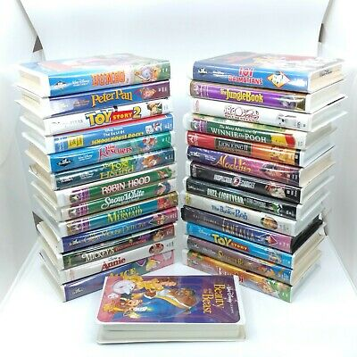 Walt Disney Kids Movies Lot of 27 VHS Tapes Animated Classic Black Diamond 90s
