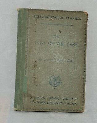 1893 LADY OF THE LAKE by Sir Walter Scott Eclectic English Classics Antique Book