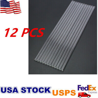 "12pcs 12 "" Glass Pyrex Blowing Tubes 8mm OD 1.2mm Thick Thermal Shock Resistant"