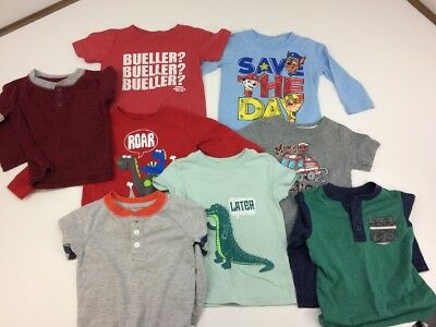 Lot of Boys Tops/T-Shirts 18 Month Ferris Bueller Cat & Jack Paw Patrol GUC #7