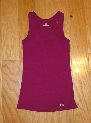 d7b64ebe3ef42 Under Armour Ribbed Tank Top Fitted Size XS Magenta Heat Gear UA Women s