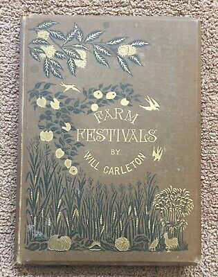1881 Farm Festivals by Will Carleton ILLUSTRATED POEM BOOK - Harper & Brothers