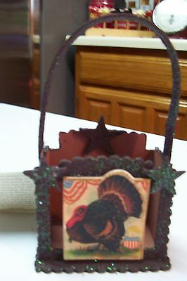 2008 Bethany Lowe by Casey Mack Thanksgiving Mini Baskets Set of 4