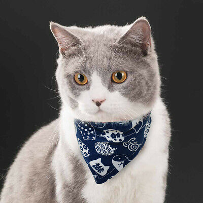 Soft Puppy Cat Small Dog Bandana Collar Cat Print Puppy Neck Scarf Neckerchief