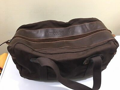 Mercedes Benz Travel Brown Canvas Leather Duffle