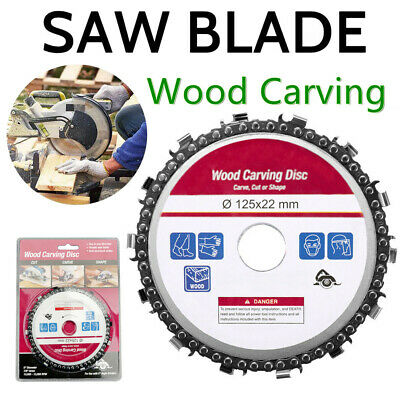 """Grinder Disc 14 Tooth Fine Chain Saw 5"""" Angle Carving Culpting Wood Hot Sale US"""