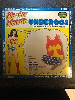 VINTAGE 1980 WONDER WOMAN UNDEROOS DC COMICS NEW OLD STOCK RARE - Medium (7-10)