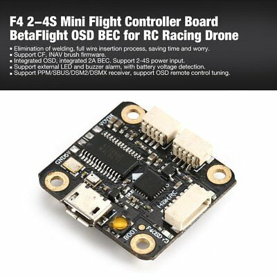 F4 2-4S MINI Flight Controller Board BetaFlight OSD BEC for RC