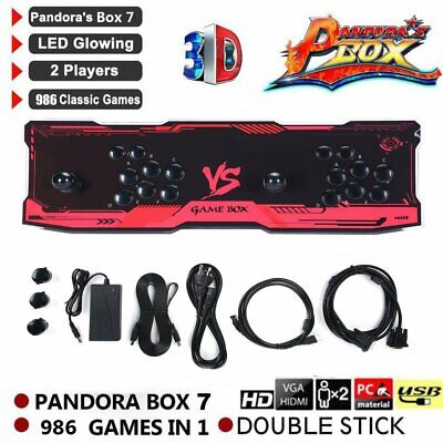986 ALL IN 1 Games Pandora's Key LED Arcade Console Double Stick Game Box AU