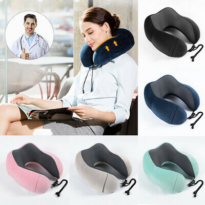 Memory Foam U Shaped Travel Pillow Neck Support Head Rest Airplane Cushion US