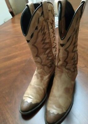 fa0d0abd70c WHITE WESTERN COWBOY BOOTS Women's Dan Post El Paso Sz 6 M MADE IN ...