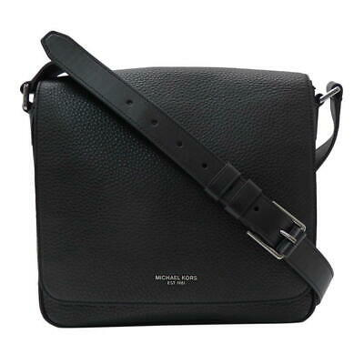bcf9026ed155 $620 MICHAEL KORS Mens BLACK NYLON JET SET MESSENGER BRIEFCASE WORK ...