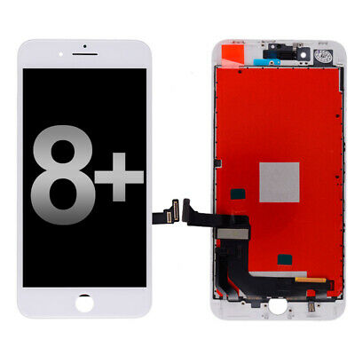 """USA White LCD Screen Touch Digitizer + Bezel Frame For Apple iPhone 8 Plus 5.5"""""""