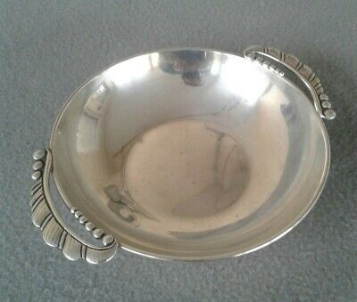 Arts & Crafts Randahl Shop Sterling Silver Handwrought Bowl w/ Cast Handles
