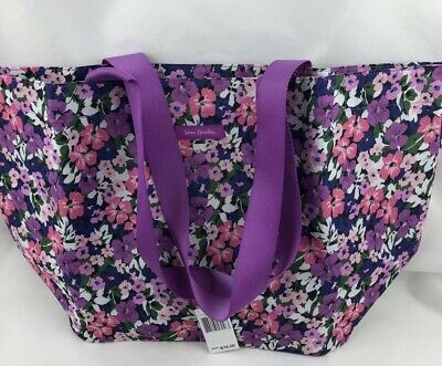 Vera Bradley Lighten Up Family Tote Beach Bag In FLOWER GARDEN New W Tags Fr Sh
