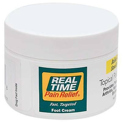 Real Time Pain Relief - FOOT Cream 8oz Jar