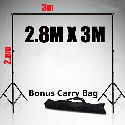 2.8*3m Heavy Duty Photography Photo Studio Background Backdrop Stand w/ Free