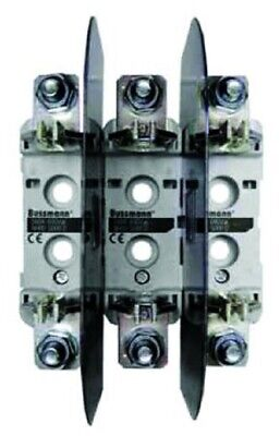 Bussmann DIN RAIL TRIPLE BASE 690V Silver Plated Copper Contacts- Size 00 Or 1